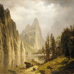 Albert Bierstadt (1830-1902)  Merced River, Yosemite Valley  Oil on canvas, 1866  35 7/8 x 50 inches (91.4 x 127 cm)  Private collection